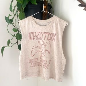 Tops - Led Zeppelin Cropped Muscle Graphic Tank